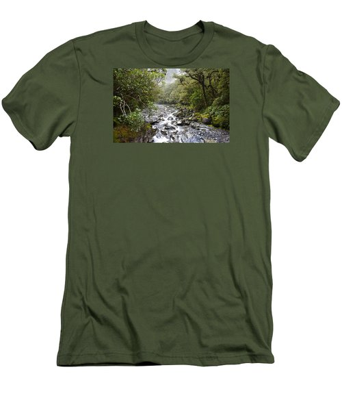 Fiordland National Park New Zealand Men's T-Shirt (Slim Fit) by Venetia Featherstone-Witty