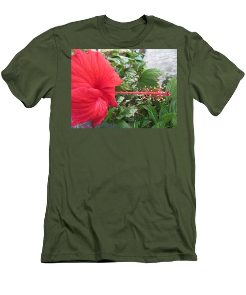 Fire And Ice Hibiscus Men's T-Shirt (Athletic Fit)