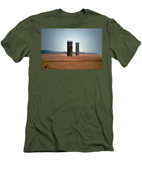 Fct5 And Fct6 Fire Control Towers On The Beach Men's T-Shirt (Athletic Fit)