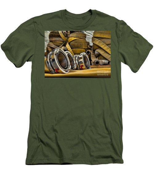 Fire Hoses Men's T-Shirt (Athletic Fit)