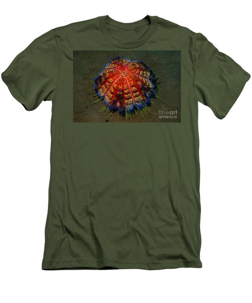 Men's T-Shirt (Slim Fit) featuring the photograph Fire Sea Urchin by Sergey Lukashin
