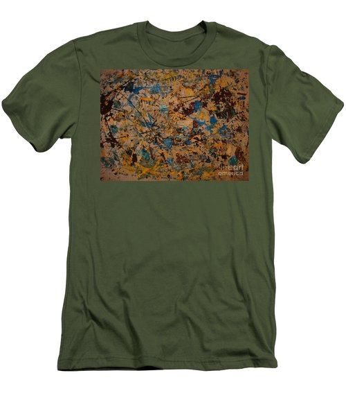 Fire Work Men's T-Shirt (Athletic Fit)