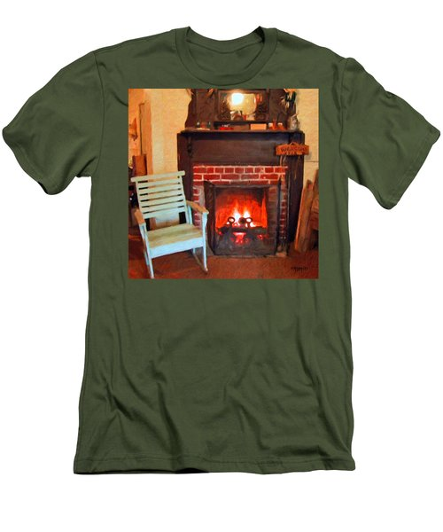 The Family Hearth - Fireplace Old Rocking Chair Men's T-Shirt (Athletic Fit)