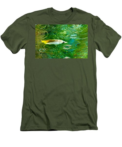 Fish In The Rain Men's T-Shirt (Athletic Fit)