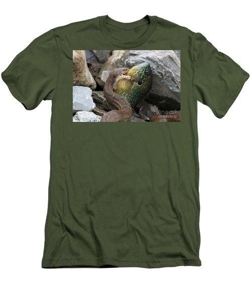 Fishing Men's T-Shirt (Slim Fit) by Jeannette Hunt