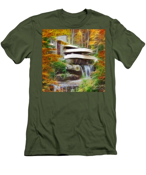 Fixer Upper - Square Version - Frank Lloyd Wright's Fallingwater Men's T-Shirt (Athletic Fit)