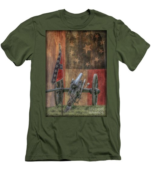 Men's T-Shirt (Slim Fit) featuring the digital art Flags Of The Confederacy by Randy Steele