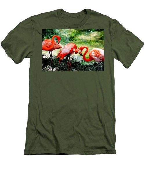 Flamingo Friends Men's T-Shirt (Slim Fit) by Beverly Stapleton
