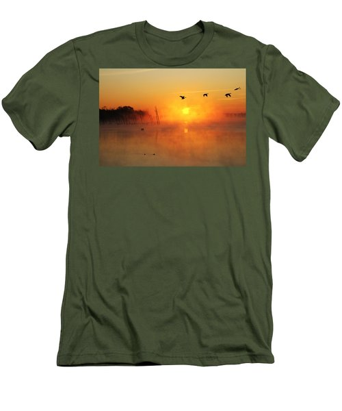 Flight At Sunrise Men's T-Shirt (Athletic Fit)