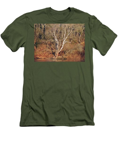 Men's T-Shirt (Slim Fit) featuring the photograph Flint River 25 by Kim Pate
