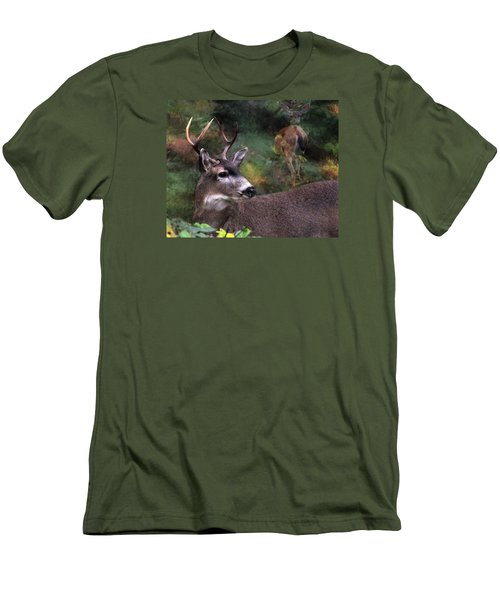 Men's T-Shirt (Slim Fit) featuring the photograph Flirt by I'ina Van Lawick