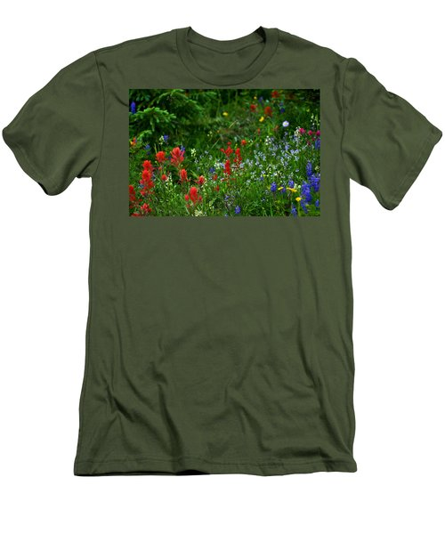 Floral Explosion Men's T-Shirt (Athletic Fit)