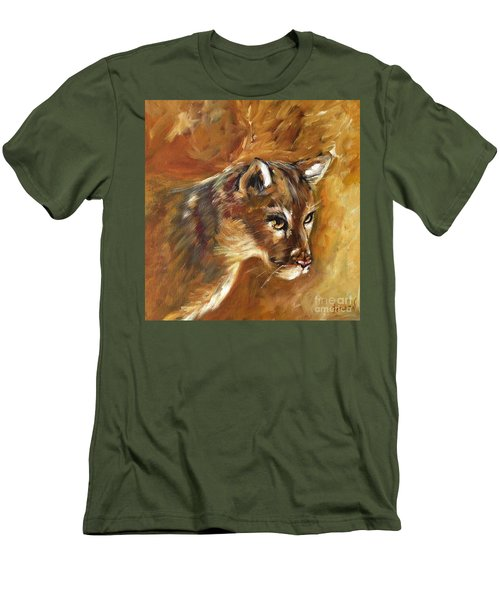 Florida Panther Men's T-Shirt (Slim Fit) by Karen  Ferrand Carroll