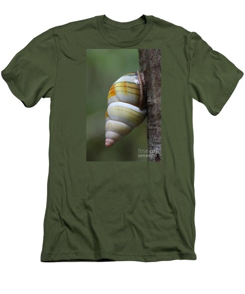 Men's T-Shirt (Slim Fit) featuring the photograph Florida Tree Snail by Paul Rebmann