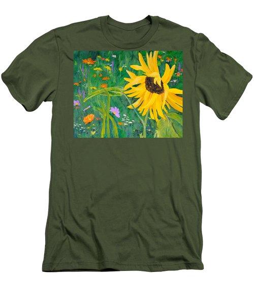 Flower Fun Men's T-Shirt (Athletic Fit)