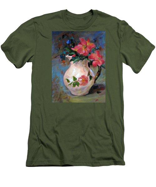 Flower In Vase Men's T-Shirt (Slim Fit) by Jieming Wang