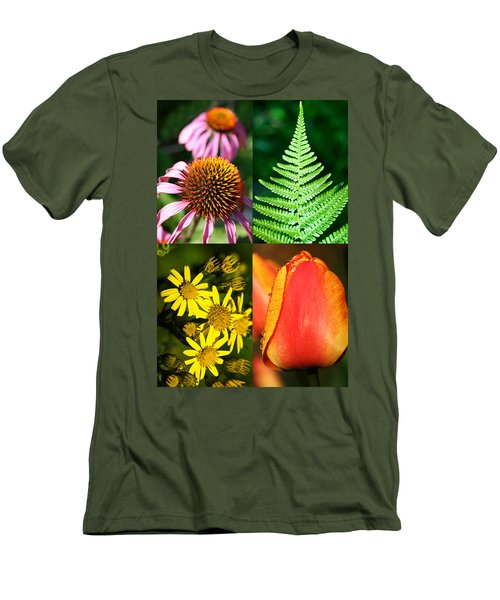 Flower Photo 4 Way Men's T-Shirt (Athletic Fit)