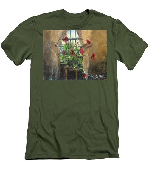 Flowers By The Window Men's T-Shirt (Athletic Fit)