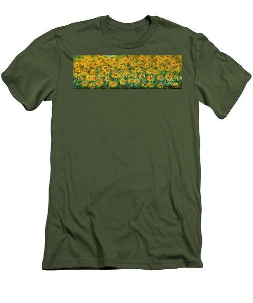 Flowers Men's T-Shirt (Slim Fit) by Loredana Messina