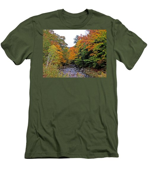 Flowing Into October Men's T-Shirt (Athletic Fit)
