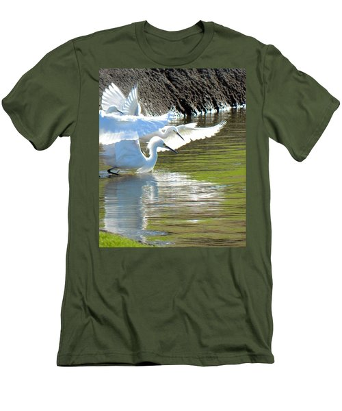 Men's T-Shirt (Slim Fit) featuring the photograph Flurry by Deb Halloran