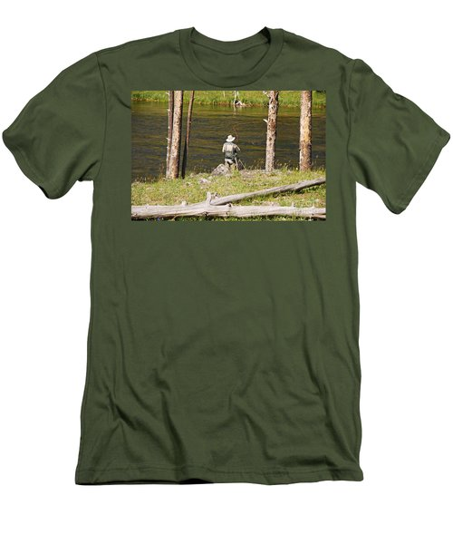 Fly Fishing Men's T-Shirt (Slim Fit) by Mary Carol Story