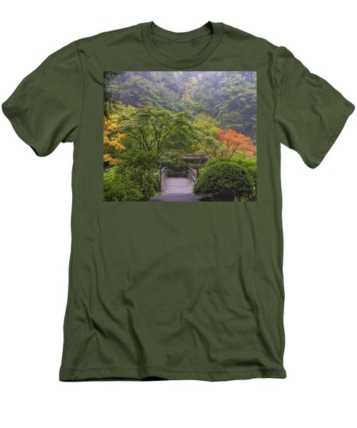 Foggy Morning In Japanese Garden Men's T-Shirt (Athletic Fit)