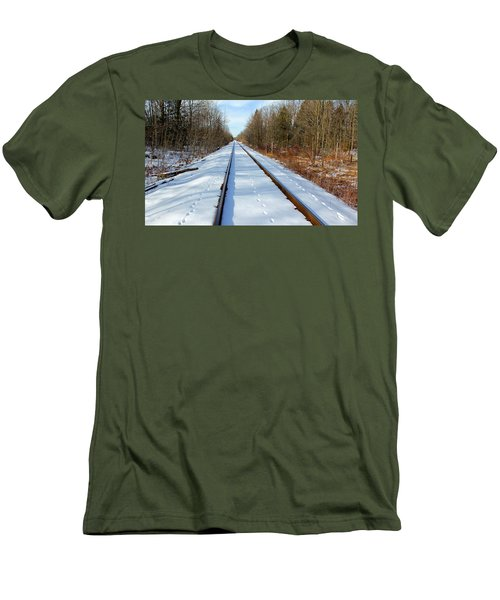Men's T-Shirt (Slim Fit) featuring the photograph Follow Your Own Path by Debbie Oppermann
