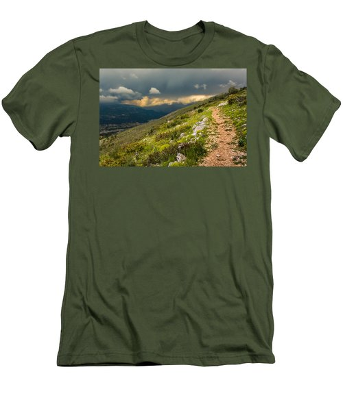 Foot Path Into The French Alps Men's T-Shirt (Athletic Fit)