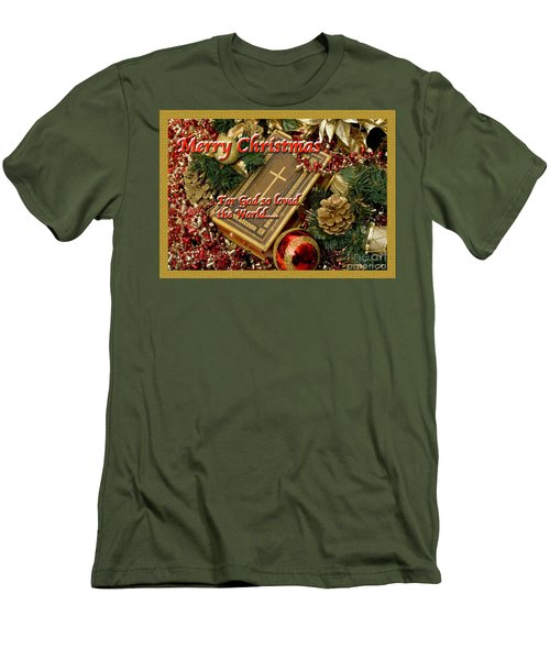 For God So Loved Us Men's T-Shirt (Slim Fit) by Terry Wallace