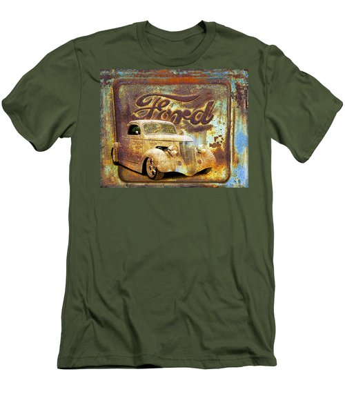 Ford Coupe Rust Men's T-Shirt (Slim Fit) by Steve McKinzie