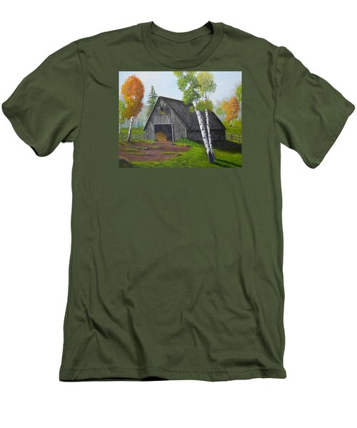 Forest Barn Men's T-Shirt (Slim Fit) by Sheri Keith