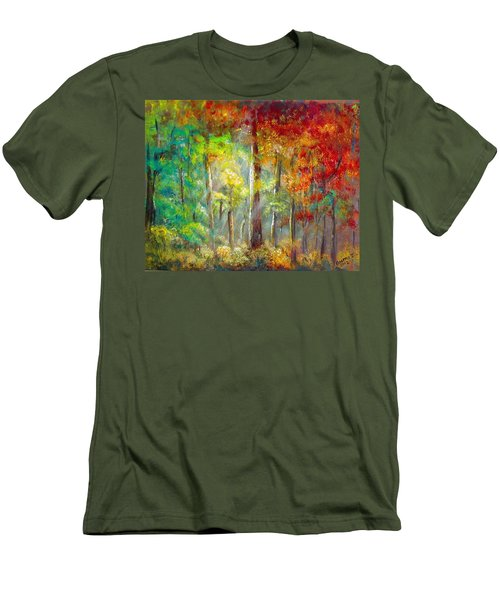 Forest Men's T-Shirt (Slim Fit) by Bozena Zajaczkowska