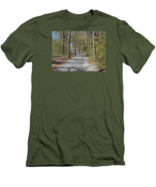Fork In The Road Men's T-Shirt (Slim Fit) by Catherine Gagne