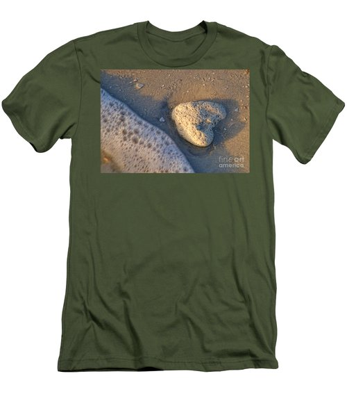 Found Heart Men's T-Shirt (Slim Fit) by Peggy Hughes