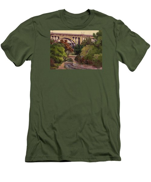 Four Bridges Men's T-Shirt (Slim Fit) by Jane Thorpe