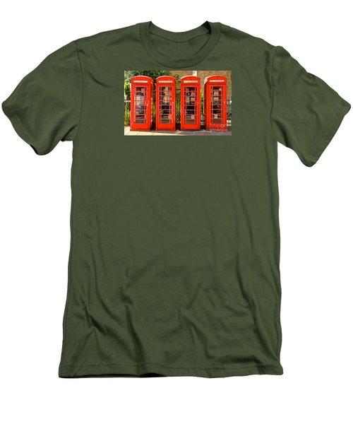 Four In A Row Men's T-Shirt (Slim Fit) by David Warrington