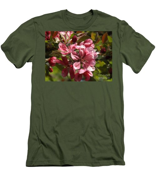 Fragrant Crab Apple Blossoms Men's T-Shirt (Slim Fit) by Brenda Brown