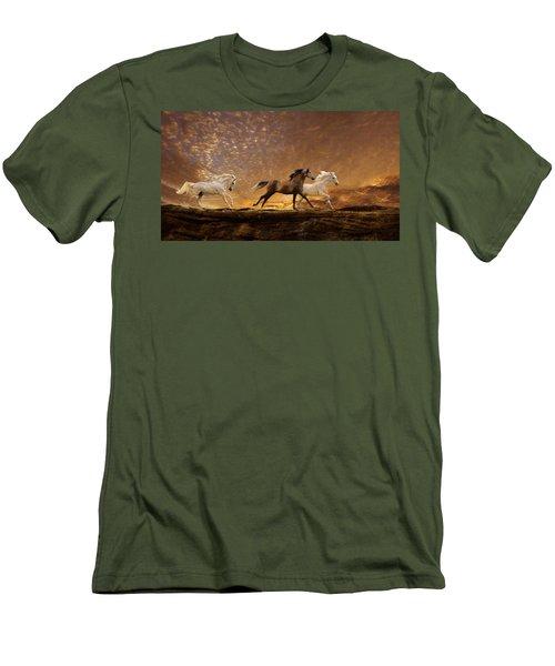 Freed Spirits Men's T-Shirt (Slim Fit) by Melinda Hughes-Berland