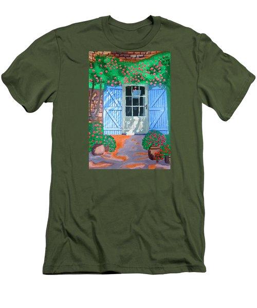 French Farm Yard Men's T-Shirt (Slim Fit) by Magdalena Frohnsdorff
