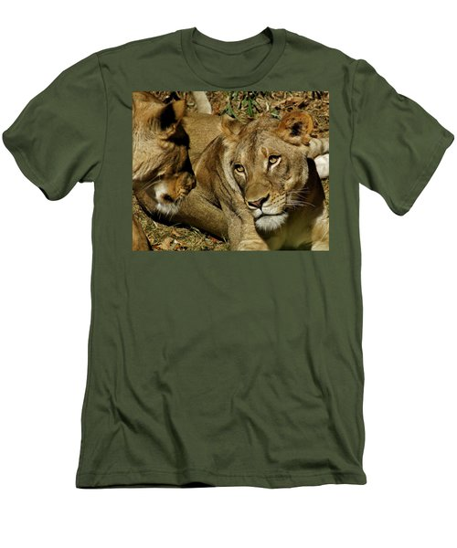 Men's T-Shirt (Slim Fit) featuring the photograph Friends by Jean Goodwin Brooks