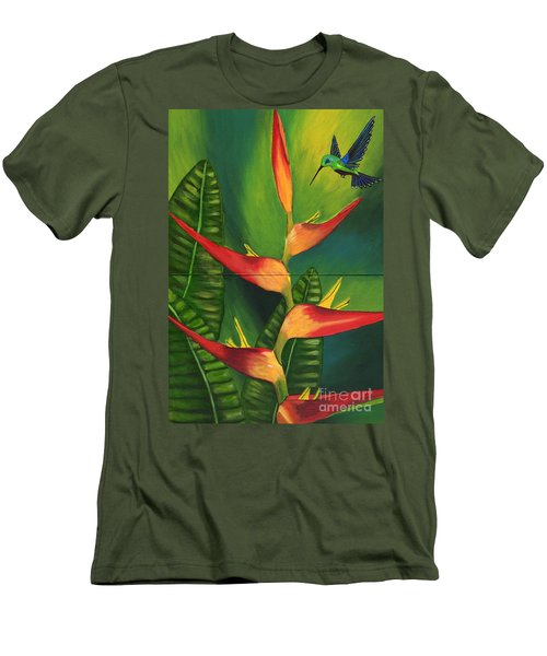 Men's T-Shirt (Slim Fit) featuring the painting Friendship by Laura Forde