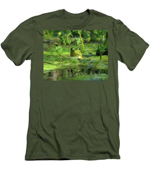Frog Men's T-Shirt (Slim Fit) by Douglas Stucky