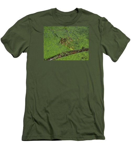 Men's T-Shirt (Slim Fit) featuring the photograph Froggie by Robert Nickologianis