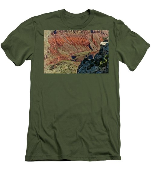 Men's T-Shirt (Slim Fit) featuring the photograph From Yaki Point 5 Grand Canyon by Bob and Nadine Johnston