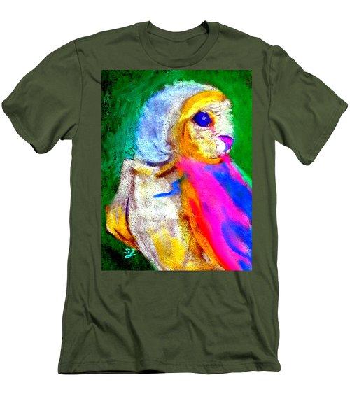Funky Barn Owl Art Print Men's T-Shirt (Athletic Fit)