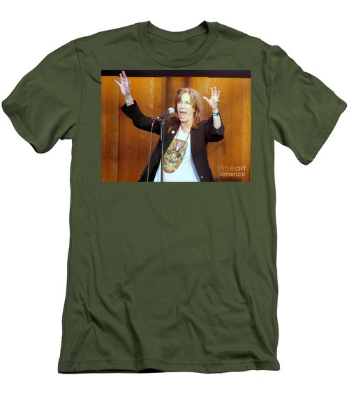 Men's T-Shirt (Slim Fit) featuring the photograph G-l-o-r-i-a by Ed Weidman