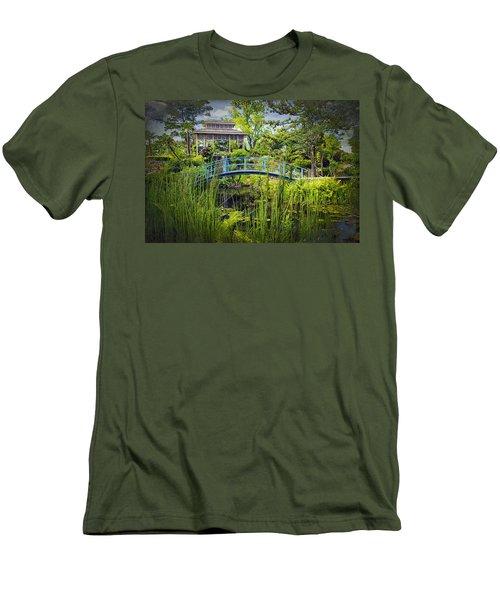 Garden At Houmas House Plantation La Dsc04584 Men's T-Shirt (Slim Fit) by Greg Kluempers