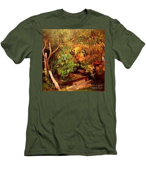 Garden Backyard Corner Men's T-Shirt (Athletic Fit)