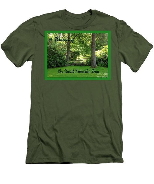 Garden Bench On Saint Patrick's Day Men's T-Shirt (Athletic Fit)